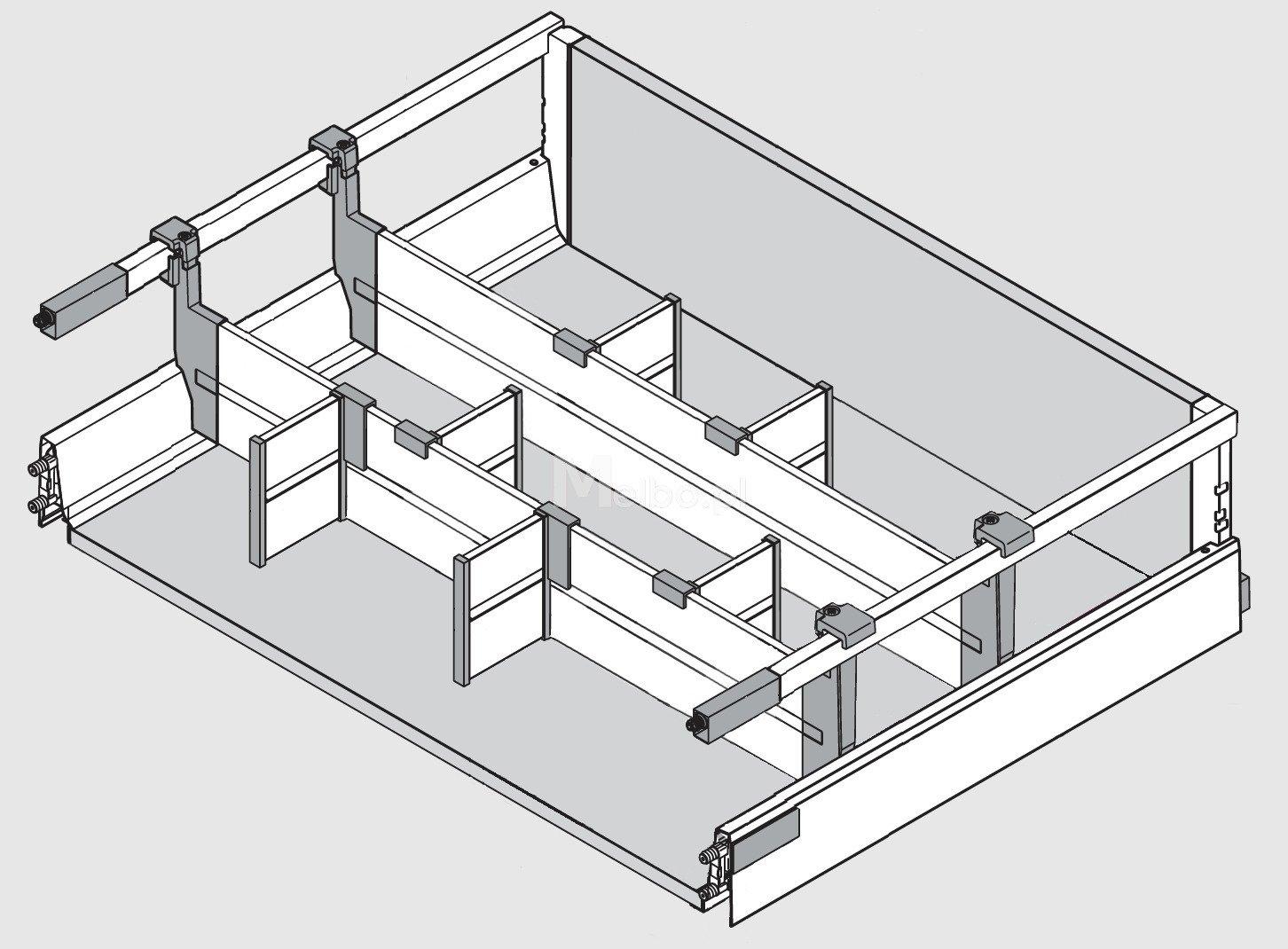 blum orga line antaro organizer wk ad do szuflady d do szafki 901 1200 mm popiel 2l. Black Bedroom Furniture Sets. Home Design Ideas