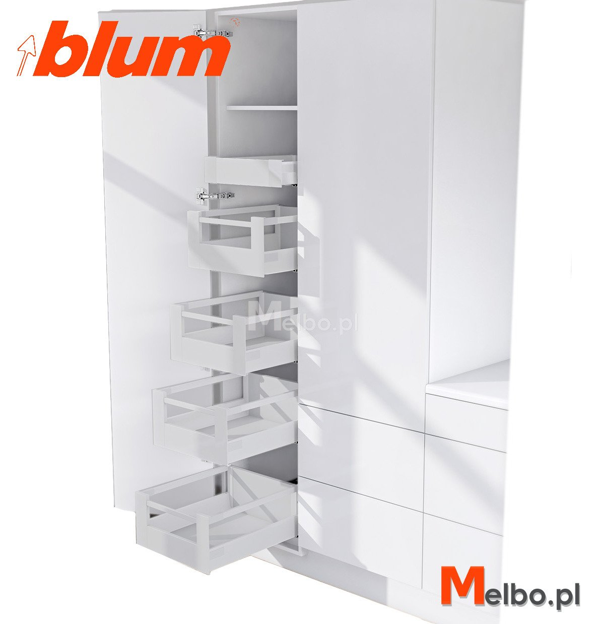 cargo wysokie blum space tower 40 50 60 l500 popiel. Black Bedroom Furniture Sets. Home Design Ideas