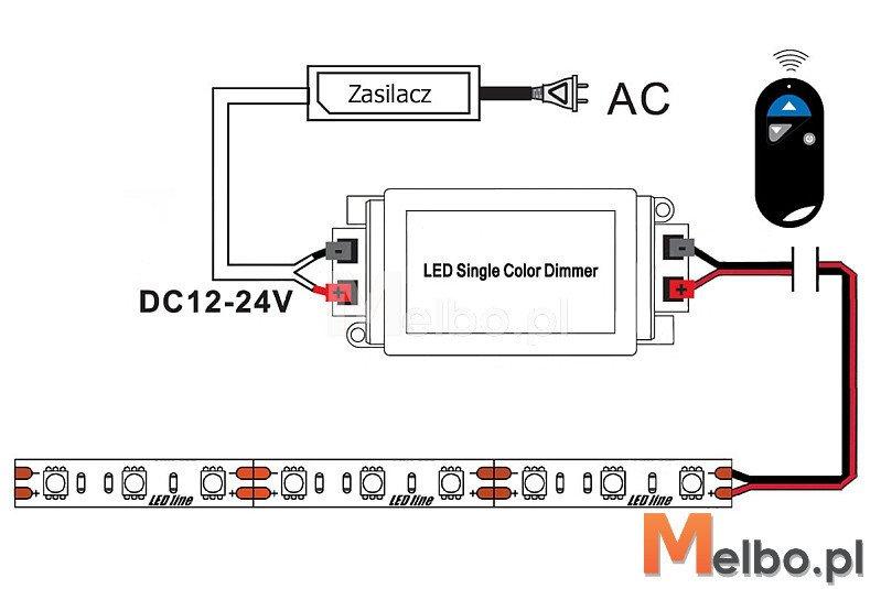 Led Włącznik Oświetlenia 12 24v 8a Z Pilotem Melbopl