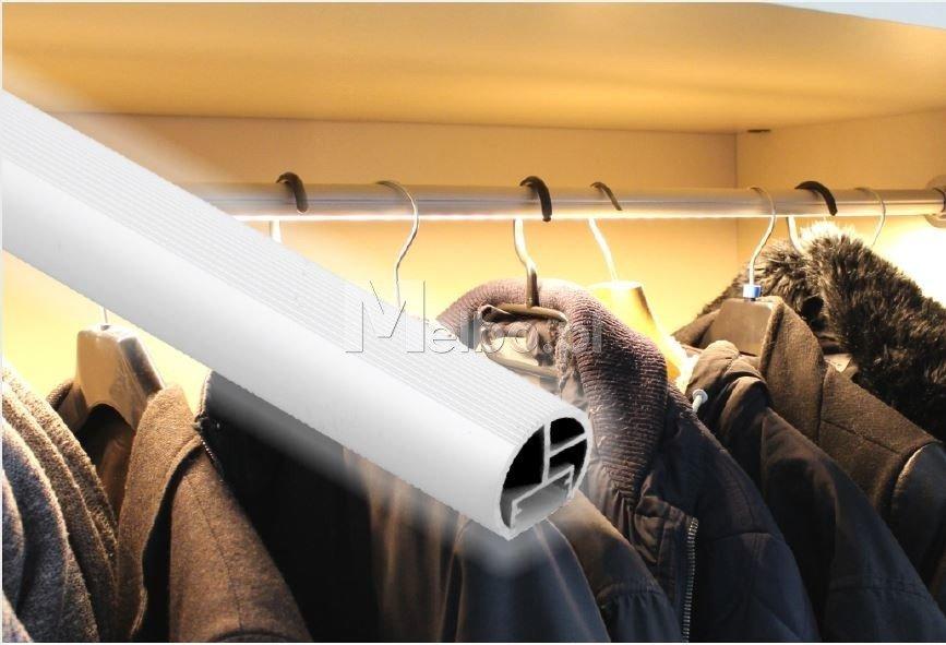Oświetlenie Led Do Szafy Reling Drążek Na Ubrania Z