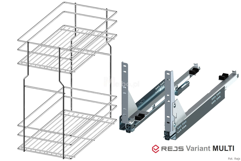 rejs variant multi cargo 400 2p srebrny prowadnice hettich. Black Bedroom Furniture Sets. Home Design Ideas